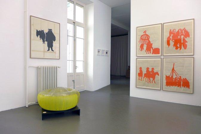 Dove Allouche, Ulla von Brandenburg, Hans-Walter Müller,  Curated by Samuel Gross: L'icosasphère, 29.05–11.07.2015, Image 8