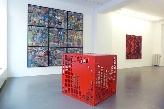 Peter Kogler: Galerie Mezzanin Geneva, 08.11.2014–10.01.2015, Image 4