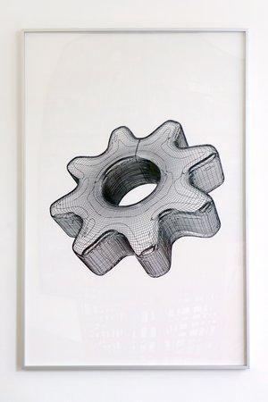 Peter Kogler: Galerie Mezzanin Geneva, 08.11.2014–10.01.2015, Image 12